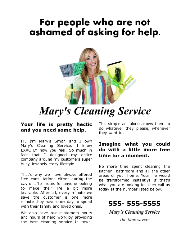 A house cleaning flyer that gets results!