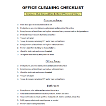 Post image for FREE Download: Office Cleaning Checklist