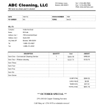 Post image for How to create a cleaning invoice for your business